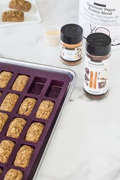 Protein Power Petites: Store-bought protein bars can be full of artificial ingredients and sugar. These healthier bites pack a big protein punch in a petite package. Epicure Recipes, Snack Recipes, Cooking Recipes, Healthy Protein Snacks, Healthy Treats, Healthy Breakfasts, Protein Foods, Healthy Baking, Protein Power