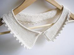 Knitted Picot Edge Collar by CMbeatknit on Etsy, $25.00