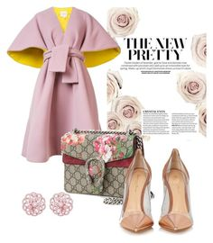 """""""Pretty in pink"""" by evanshram on Polyvore featuring Delpozo, Gucci and Gianvito Rossi"""