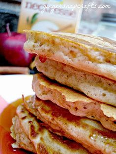 Apple Cinnamon Pancakes - Perfect for a Fall Sunday morning!!  Apple-licious!  Delicious recipes to use all of those wonderful freshly picked apples!!!