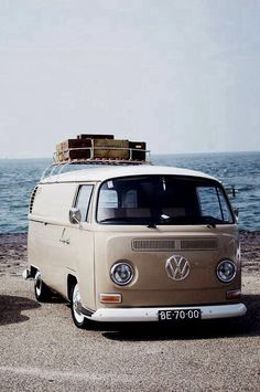 "Volkswagen T2 panel van model 214 | the windshield and roofline a ""vee"" helped the production Type 2 achieve a drag coefficient of 0.44. The Transporter second generation T2 post 1967."
