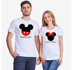 Σετ μπλούζες για ζευγάρια Made for Each Other Mouse Mr Mrs, T Shirt, Tops, Women, Fashion, Supreme T Shirt, Moda, Tee Shirt, Fashion Styles