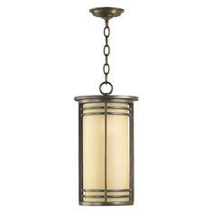 Quorum International 7917-9-86 Larson Outdoor Pendant, Oiled Bronze | ATG Stores