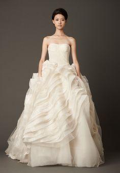 Organza ball gown wedding dress by Vera Wang