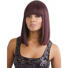 Explore A Brand New Style Today When You Put On The Mane Concept Brown Sugar Wig – Find This Unique Piece Right Now By Visiting Divatress. Black Hairstyles With Weave, Short Hair With Bangs, Trendy Hairstyles, Wig Hairstyles, Long Bangs, Thick Bangs, 100 Human Hair, Human Hair Wigs, Wig Styles
