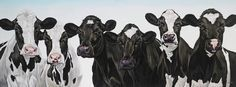 Six Young Cows by Clara Bastian