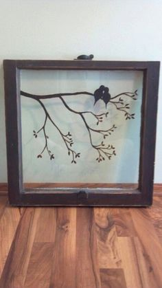 Hand Painted Old Windows by MelodyRenner on Etsy by rosa Old Window Crafts, Old Window Projects, Diy Projects, Vintage Windows, Old Windows, Windows Decor, Antique Windows, Window Art, Window Frames