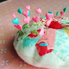 Cute pincushion spotted on the Cluck Cluck Sew blog