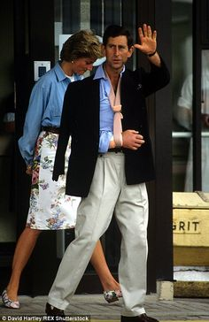 Prince Charles (pictured with Princess Diana) broke his arm playing polo in June 1990...