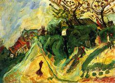 Landscape with Figure, 1919 / Chaim Soutine