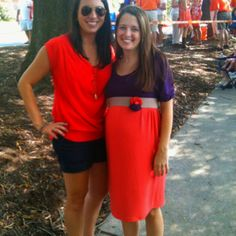 Clemson maternity knit dress... McCalls pattern with sleeves added