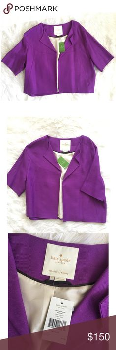 Kate Spade • Micah Cropped Jacket Never worn. New with tags kate spade Jackets & Coats