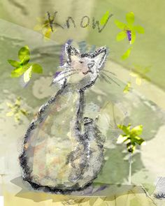 mystic cat original illustration print by ImYourNonny on Etsy, $15.00