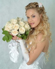 links to latest fashion trends 2013;  hair, nails, and make-up also...............Half Up Wedding Hairstyles