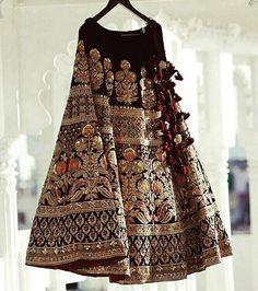 Sabyasachi maroon velvet bridal lehenga - All About Indian Bridal Outfits, Indian Bridal Lehenga, Indian Bridal Wear, Bridal Dresses, Pakistani Dresses, Indian Dresses, Lehenga Designs, Indian Attire, Mode Outfits