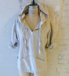 The Super Natural Beach Bum Hemp Linen Lightweight Baja Hoodie