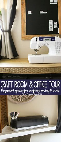 Craft Room & Office Tour 2018 shows some great craft room ideas for getting your space organized. If you love modern industrial with a bit of farmhouse flair, you'll love this.