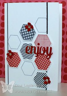 six sided hexagon punch sampler stampinup lovetostamp mini-treat bag thinlits Dies