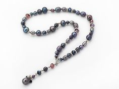 Aypearl.com --- Fashion Style Black Freshwater Pearl Crystal Y Shape Necklace