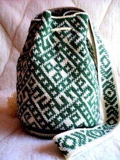 Moderna mochila bolso wayuu técnica hecha a por SchastlyvaTorba