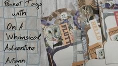Making autumn tags with On. A Whimsical Adventure : Autumn Breeze