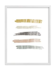 """Weathered Strokes"" - Art Print by Carrie ONeal in beautiful frame options and a variety of sizes."