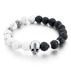 Natural Stone Mens Skull Bracelets  https://menswatchsales.com/collections/mens-bracelets/products/natural-stone-mens-skull-bracelets
