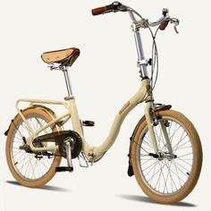 Barcelona folding bike.  Chain gaurd, front basket option, rear rack. Carrying bag too. Perfect for city dwellers. *ahem* #bicycle