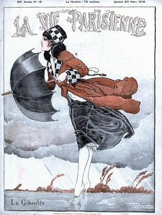 Illustration by Rene Vincent For La Vie Parisienne March 1918