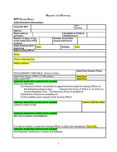 Rfp Template Word Document