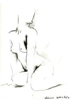 """Saatchi Art Artist Dana Pandici; Drawing, """"nude11"""" #art"""