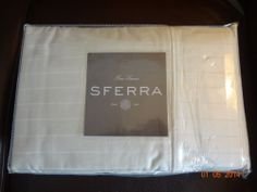 Sferra Regency Stripe King Ivory 100% Cotton Sateen 400TC NWT Made In China Wow