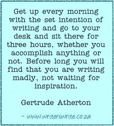 Quotable - Gertrude Atherton - Writers Write