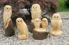 Wooden owls Simple Wood Carving, Dremel Wood Carving, Wood Carving Art, Wood Art, Wood Carvings, Wood Wood, Whittling Projects, Whittling Wood, Wood Projects
