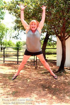 Title: Jump - No. 016 - Location - Daddy Mac's Ranch, Joshua, Texas - Date: June 2012 - Photo: Lon Casler Bixby - Web: www.neoichi.com - Model: Cyndie