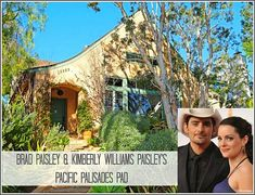 """#CelebrityHomes : Country music star Brad Paisley and Nashville actress Kimberly Williams-Paisley are selling their """"beautifully restored vintage #home"""" in Pacific Palisades, California. It's on the market for just under $3 million."""