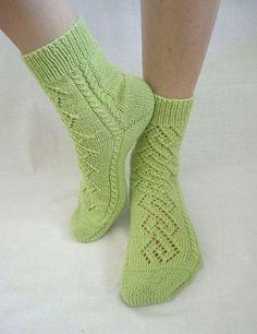 Купить Носочки Rhombuses фисташковые - носки, носочки, ажурные носочки, женские носочки