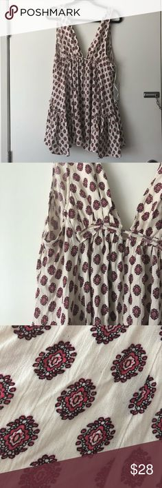 LULU'S // printed swing dress brand new, never worn, with tags. cute paisley-sequel pattern, with an asymmetrical hemline, longer on the sides. would be cute over a white mini and your favorite tan wedges! Lulu's Dresses Mini