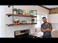 The Industrial Shelving Unit - DIY Project - YouTube