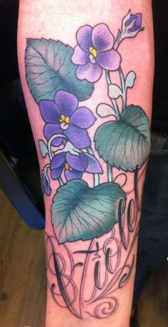violet tattoo - not mine ;)