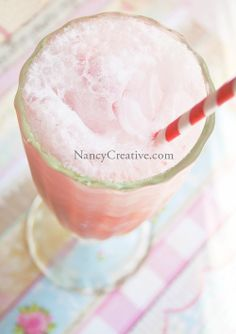 Very Strawberry Coconut Cream Soda - a simple syrup of strawberries n agave