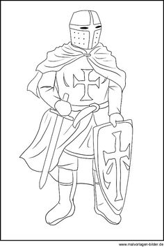 Knights - Coloring pages for children Coloring Pages For Grown Ups, Online Coloring Pages, Colouring Pages, Coloring Pages For Kids, Coloring Sheets, Castle Coloring Page, Medieval Party, Baby Drawing, Wood Burning Patterns