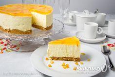 Tarta de queso fria con gelatina y mascarpone