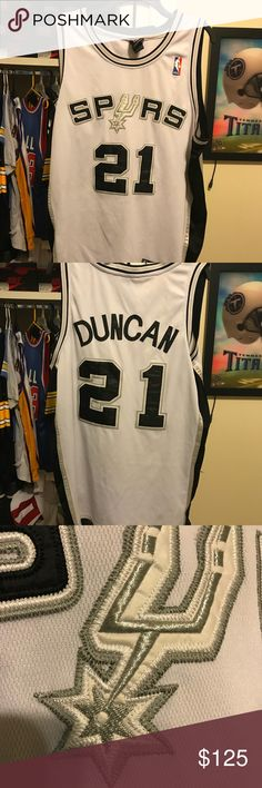 Tim Duncan Authentic San Antonio Spurs Jersey Very clean Great Jersey  Reebok Shirts 12b48f820