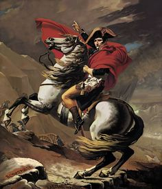 This is my digital painting reproduction of Jacques Louis David's oil painting Napoleon Crossing The Alps originally painted in 1801-1805.  This work was done as a school project using a Wacom tablet in Photoshop.