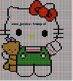 More Hello Kitty cross stitch patterns