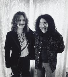 Eric Clapton and Jerry Garcia in San Francisco, 1968.