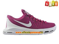 Nike KD 8/VIII Chaussure de Nike Basket-ball Pas Cher Pour Homme Pourpre/Blanc 768867-A010