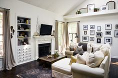 Family room inspiration| Before & After: A Reclaimed Traditional Brick Foreclosure | Design*Sponge
