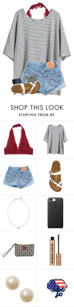 """""""REALLY warm today...❄️"""" by hgw8503 ❤ liked on Polyvore featuring Free People, Levi's, Birkenstock, Kendra Scott and Southern Proper"""